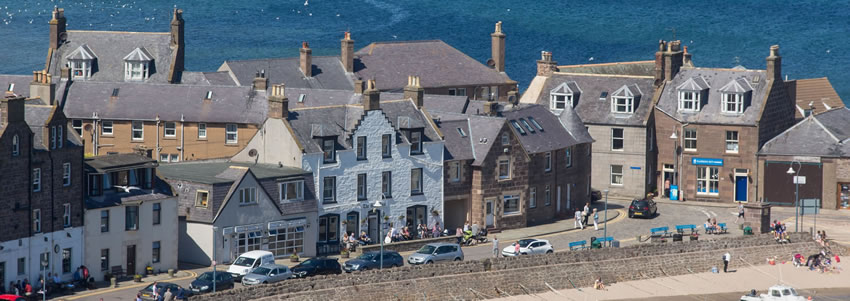 The picturesque seaside town of Stonehaven