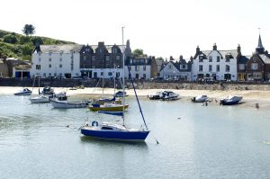 Stonehaven harbour with The Ship Inn